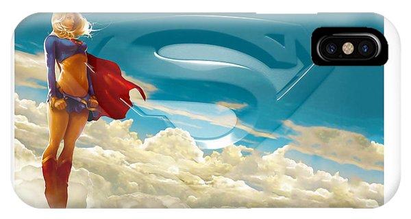 Supergirl Art IPhone Case