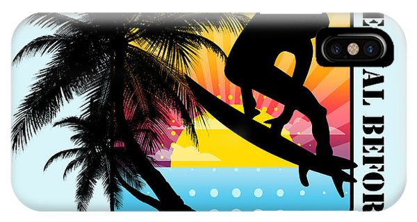 Venice Beach iPhone Case - Surfboard by Mark Ashkenazi