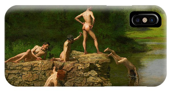 Sunbather iPhone Case - Swimming by Thomas Eakins