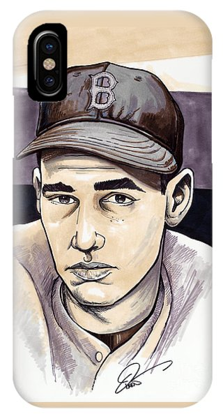Boston Red Sox iPhone Case - Ted Williams by Dave Olsen