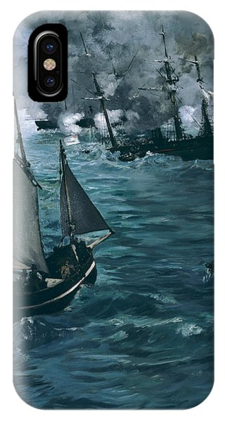 French Painter iPhone Case - The Battle Of The U.s.s. Kearsarge And The C.s.s. Alabama by Edouard Manet