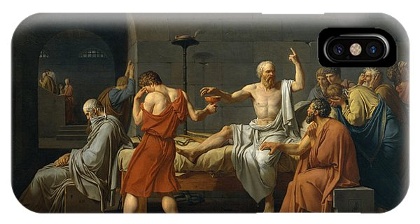 Bravery iPhone Case - The Death Of Socrates by Jacques Louis David