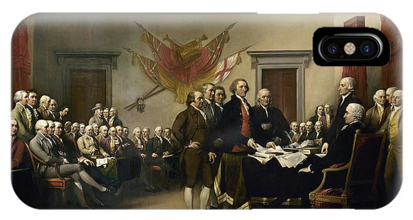 July 4 iPhone Case - The Declaration Of Independence by John Trumbull