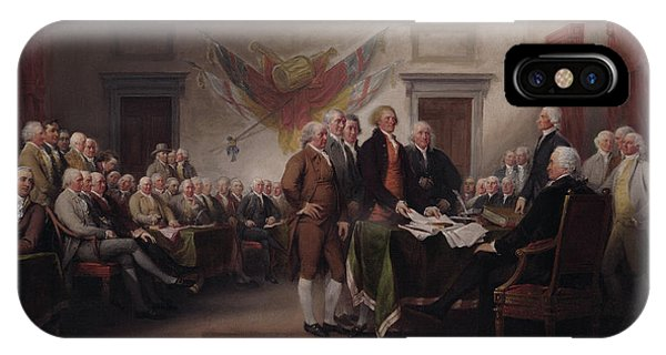 July 4 iPhone Case - The Declaration Of Independence, July 4, 1776 by John Trumbull