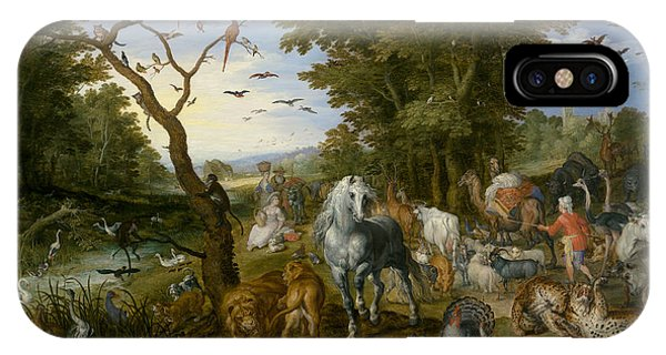 Ostrich iPhone Case - The Entry Of The Animals Into Noah's Ark by Jan Brueghel the Elder