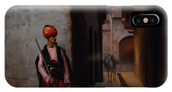 Damage iPhone Case - The Guard by Jean-Leon Gerome