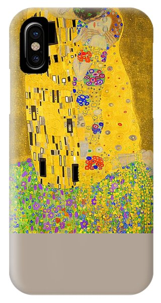 The Kiss Flame Tree Edition Phone Case by Gustav Klimt