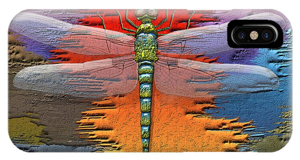 Pop Art iPhone Case - The Legend Of Emperor Dragonfly by Serge Averbukh