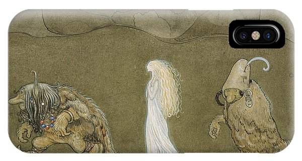 Swedish Painters iPhone Case - The Princess And The Trolls by John Bauer