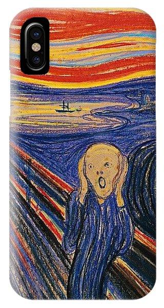 iPhone Case - The Scream Ver 1895 Edvard Munch by Eloisa Mannion