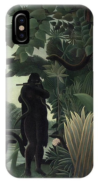 French Painter iPhone Case - The Snake Charmer by Henri Rousseau