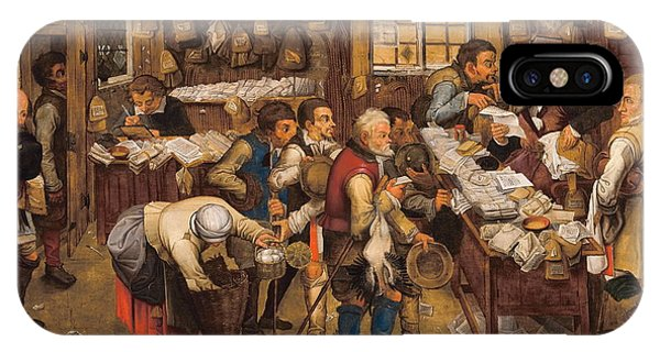 Debts iPhone Case - The Tax Collectors Office  by Pieter Brueghel The Younger