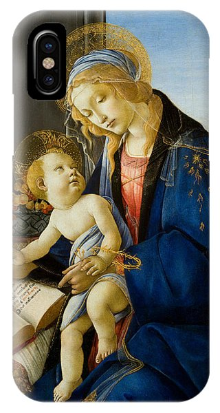 Botticelli iPhone Case - The Virgin And Child by Sandro Botticelli