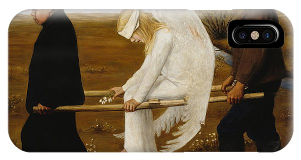 iPhone Case - The Wounded Angel by Hugo Simberg