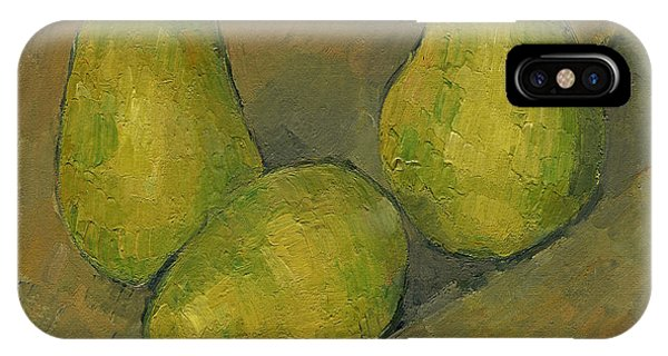 French Painter iPhone Case - Three Pears by Paul Cezanne