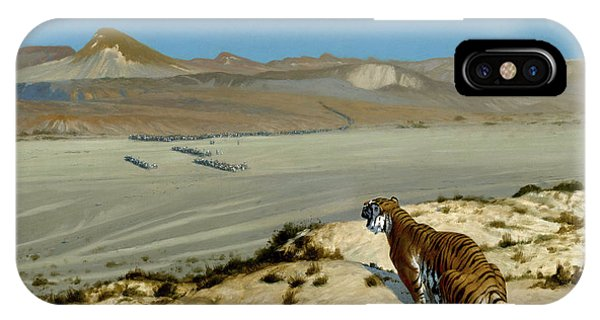 Damage iPhone Case - Tiger On The Watch by Jean-Leon Gerome