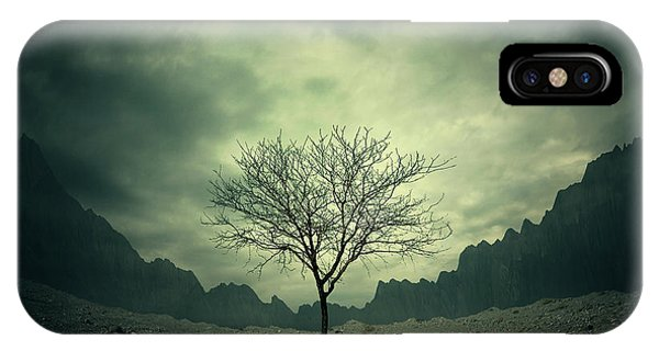 Dark Clouds iPhone Case - Tree by Zoltan Toth