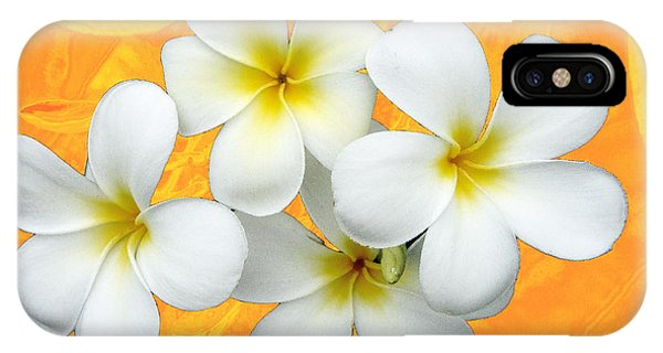 Tropical Frangrapani II IPhone Case