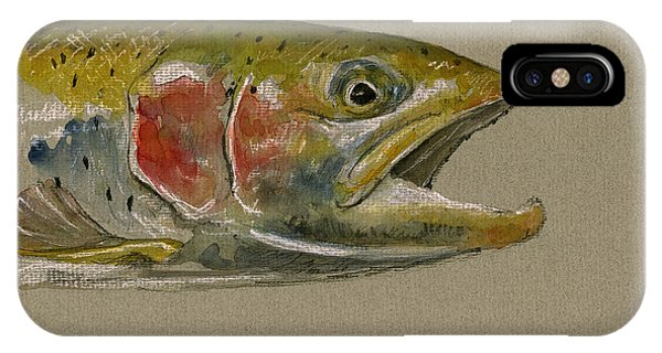 Trout iPhone Case - Trout Watercolor Painting by Juan  Bosco