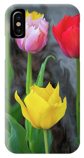 IPhone Case featuring the digital art Tulips by Cristina Stefan