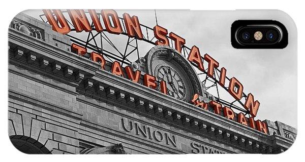 Passenger Train iPhone Case - Union Station - Denver  by Jeff Steen