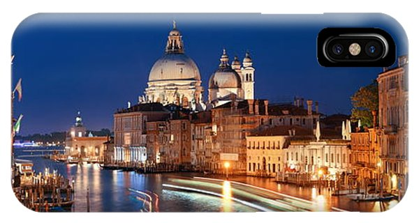 IPhone Case featuring the photograph Venice Grand Canal Viewed At Night by Songquan Deng