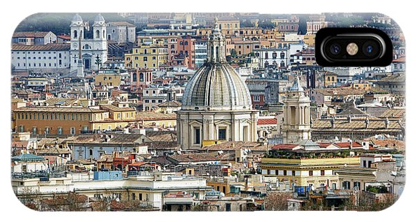 View Of Rome Italy From Atop Gianicolo Hill IPhone Case