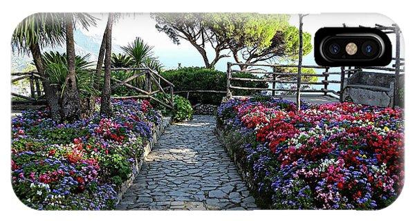 IPhone Case featuring the digital art Villa Rufolo Gardens - Ravello, Italy by Joseph Hendrix