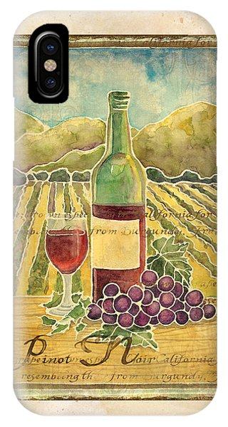 Vineyard Pinot Noir Grapes N Wine - Batik Style IPhone Case
