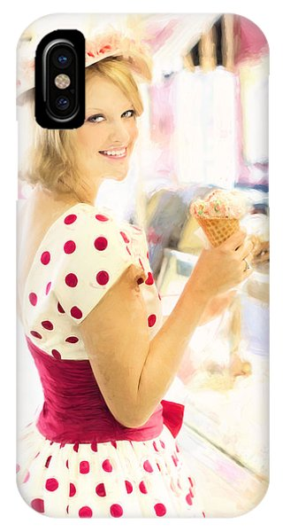 Vintage Val Ice Cream Parlor IPhone Case