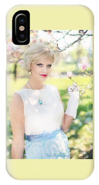 Vintage Val Magnolias IPhone Case