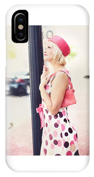 Vintage Val The Coral Hat IPhone Case
