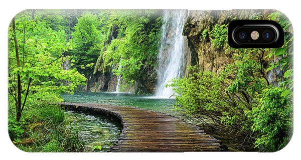 Walking Through Waterfalls - Plitvice Lakes National Park, Croatia IPhone Case