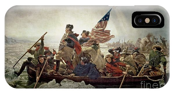 Stars And Stripes iPhone Case - Washington Crossing The Delaware River by Emanuel Gottlieb Leutze