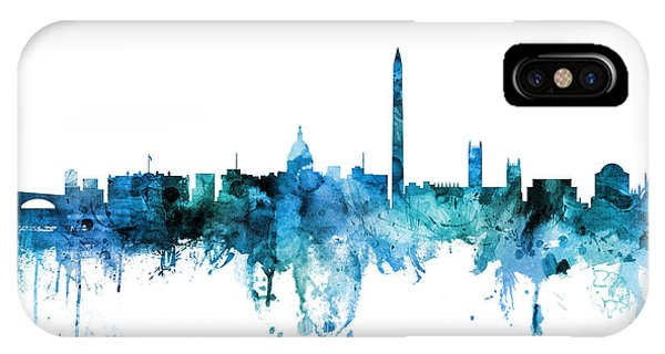 Washington iPhone Case - Washington Dc Skyline by Michael Tompsett