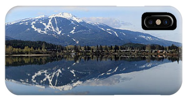 IPhone Case featuring the photograph Whistler Blackcomb Green Lake Reflection by Pierre Leclerc Photography