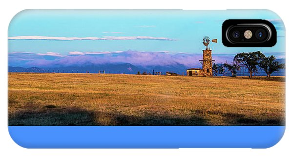 Windmill At Sunrise IPhone Case