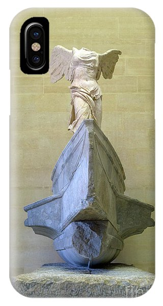 Winged Victory Of Samothrace Sculpture, 2nd Century Bc,  Musee D IPhone Case
