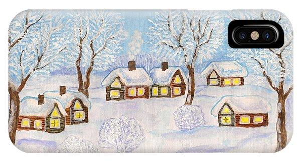 Winter Landscape, Painting IPhone Case
