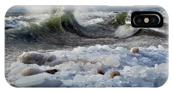 Winter Waves At Whitefish Dunes IPhone Case