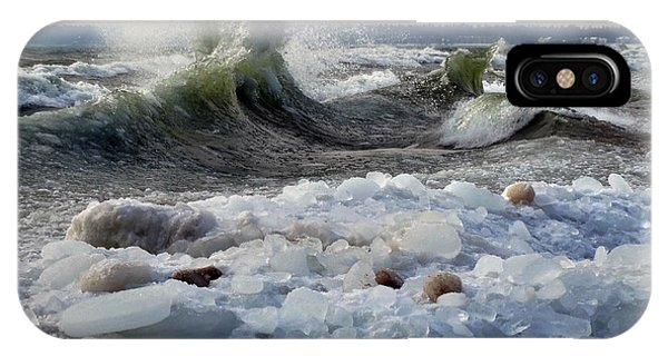 Winter Waves At Whitefish Dunes IPhone Case