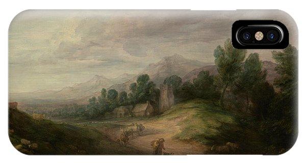 Upland iPhone Case - Wooded Upland Landscape by Thomas Gainsborough