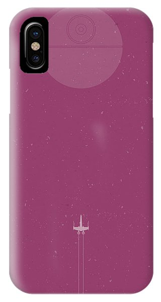 Wings iPhone Case - X-wing Attack by Samuel Whitton