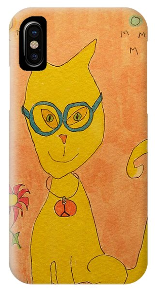 Yellow Cat With Glasses IPhone Case