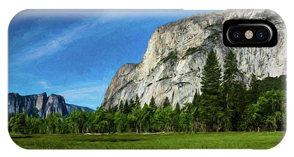 Yosemite Valley Meadow Panorama IPhone Case