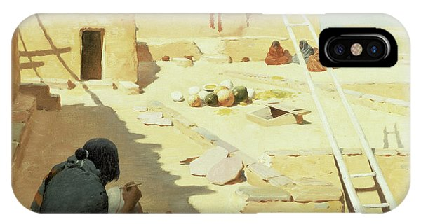 Indian Village iPhone Case - Zuni Pottery Maker by William Robinson Leigh