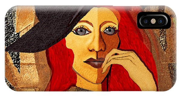 200 - Woman With Black Hat .... IPhone Case