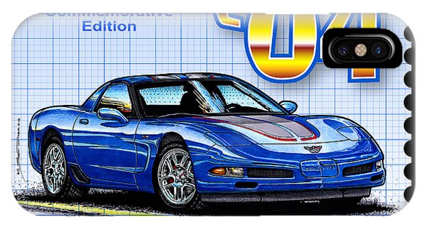 2004 Commemorative Edition Corvette IPhone Case