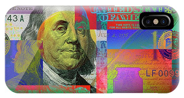 2009 Series Pop Art Colorized U. S. One Hundred Dollar Bill No. 1 IPhone Case