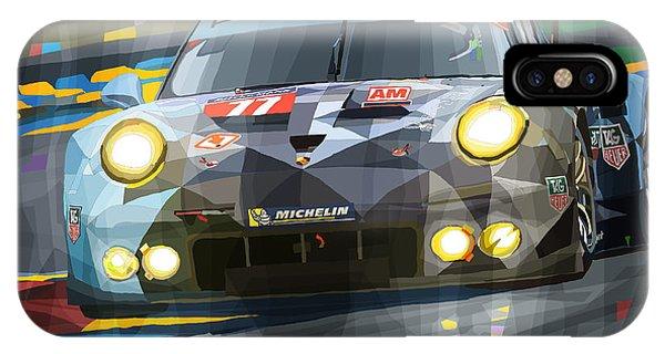 Automotive iPhone Case - 2015 Le Mans Gte-am Porsche 911 Rsr by Yuriy Shevchuk